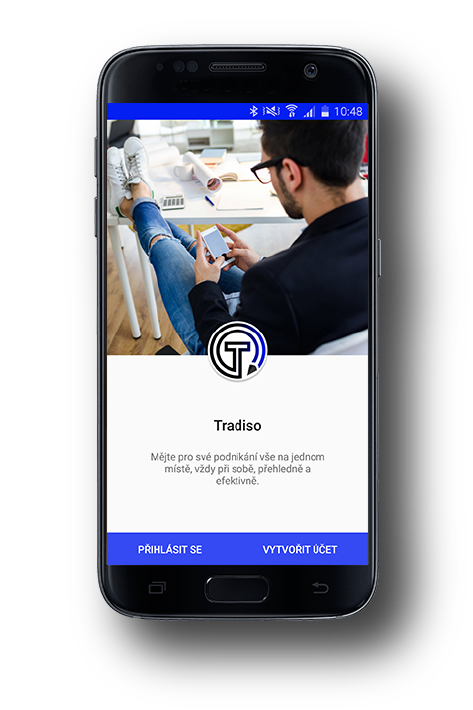 Tradiso - aplikace v mobilu